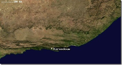 Kareedouw geographical satellite picture
