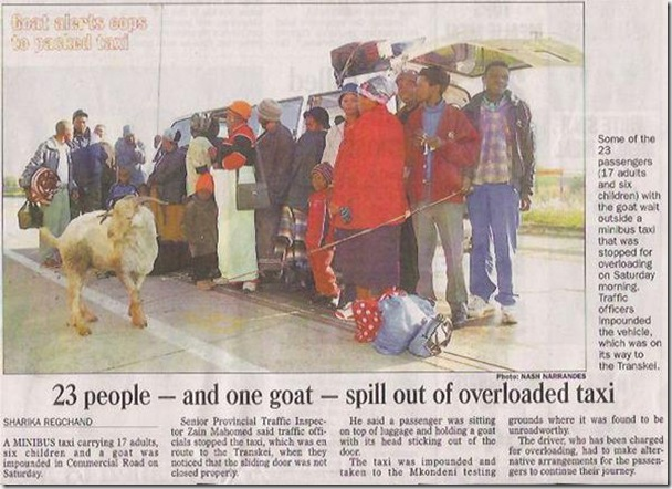 taxi_overload 23 people and a goat