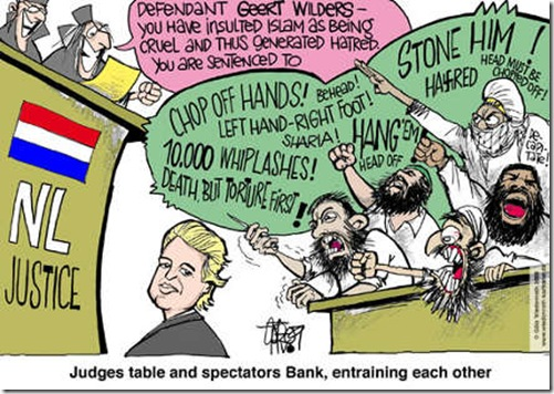islamwilders Dutch Justice Cartoon