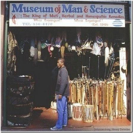 Muti winkel in Johannesburg