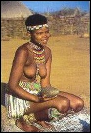 Zulu girl picture for the tourism trade belies the horrific violence in KZN after 1994...
