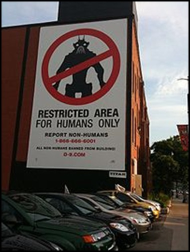 District 9 Restricted Area for Humans Only Poster