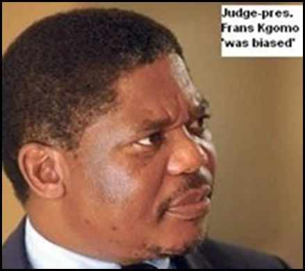 Kgomo judge Frans found racist by Supreme Court of Appeals Sept192008 Bloemfontein