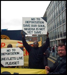 No to deportation Nigeria is not yet safe
