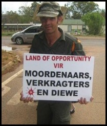 AfrikanerProtestors_Cullinan_Kameeldrift_Leeufontein_SmallholdersProtestAfrikGenocideNov2008