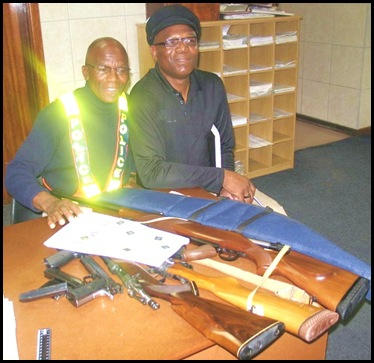 East London police recovered firearms Insp Zolile Mbambo, Colin Smith Sept 24 2009