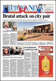 Nel, Christo murdered housemate serious after attack July 31 2009 Pretoria News FP
