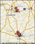 Standerton Bethal Sakhile Evander Secunda map