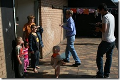 Afrikaner children in squatter camp Oct 2009