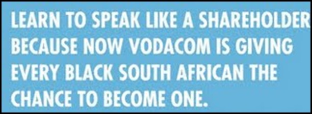 Vodacom ad allows only black South Africans to invest