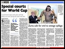 World Cup 2010 special courts planned for crimes Nov22