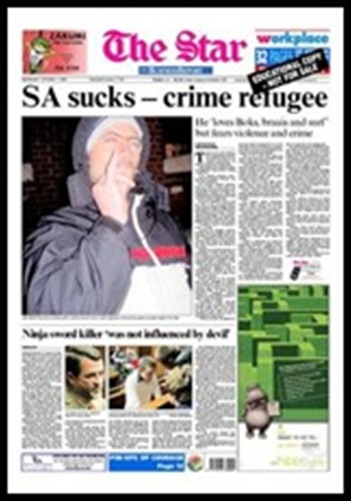 Huntley Brandon SA sucks headline The Star ZA