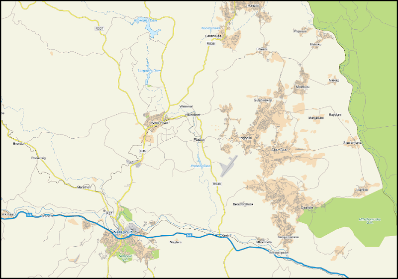 map Plaston White River Kruger Park