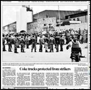 Coca Cola truckers protected from strikers in SA (2)