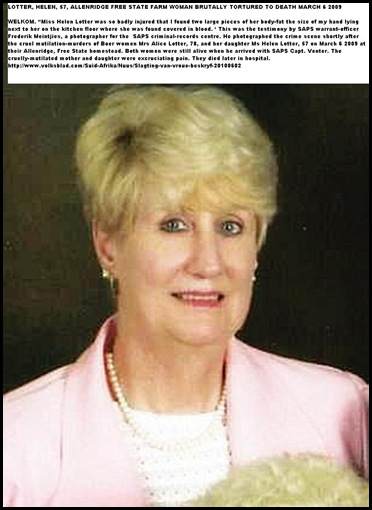 Lotter Helen 57 slaughtered with mom Alice March62010 FreeStateFarm