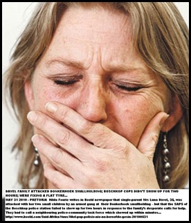 Davel Luna weeps after armed attack Boschkop 