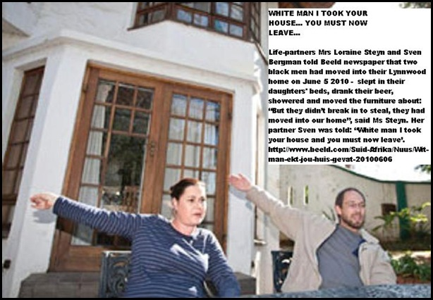 Steyn Loraine and Bergman Sven black squatters took their Lynnwood Pretoria house June62010Beeld