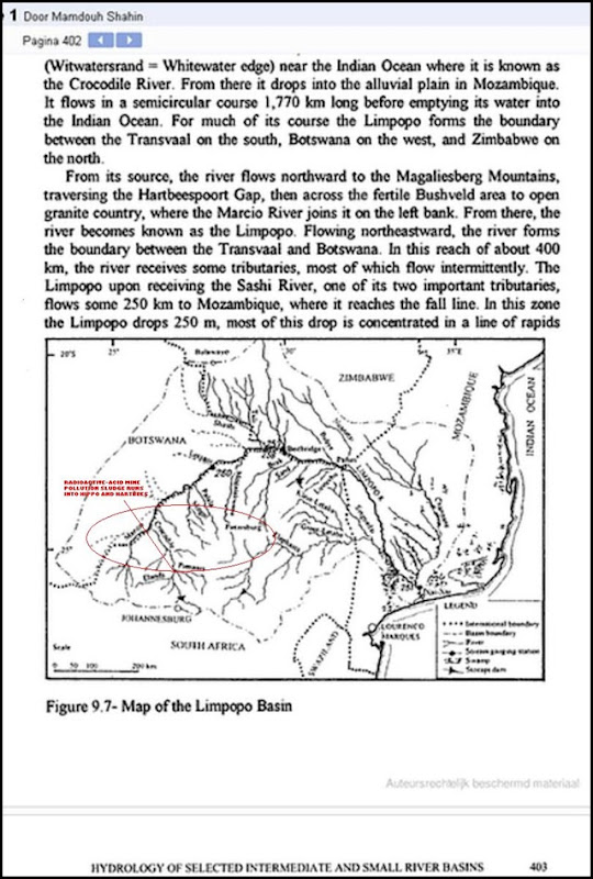 Hartbeespoort water basin source of Crocodile Limpopo Riverine system South Africa Map