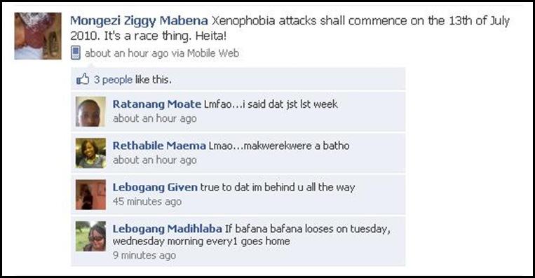 Xenophobia2010 JULY 13 2010 DIEPSLOOT Mongezi Ziggy Mabena