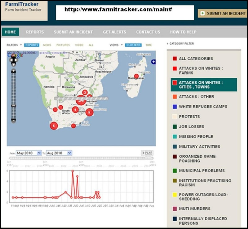 Farmitracker_Com_Update_July202010_Attacks against Whites Urban Areas only