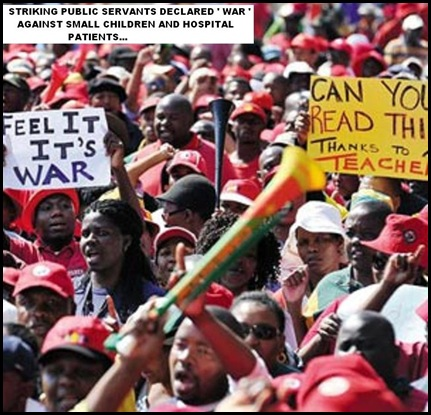 striking public servants declare WAR Felix Dlangamandla pic Aug192010