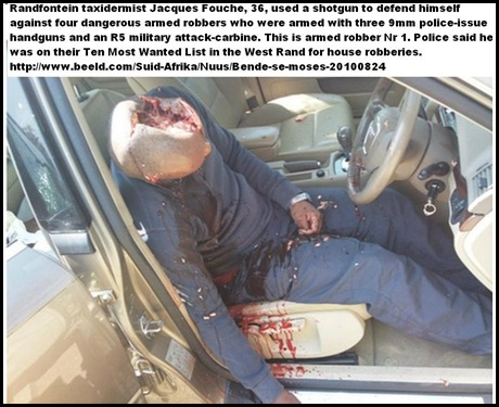 Fouche Jacques Randfontein Aug242010 SHOT TWO ARMED ROBBERS WITH R5 IN SELFDEFENCE