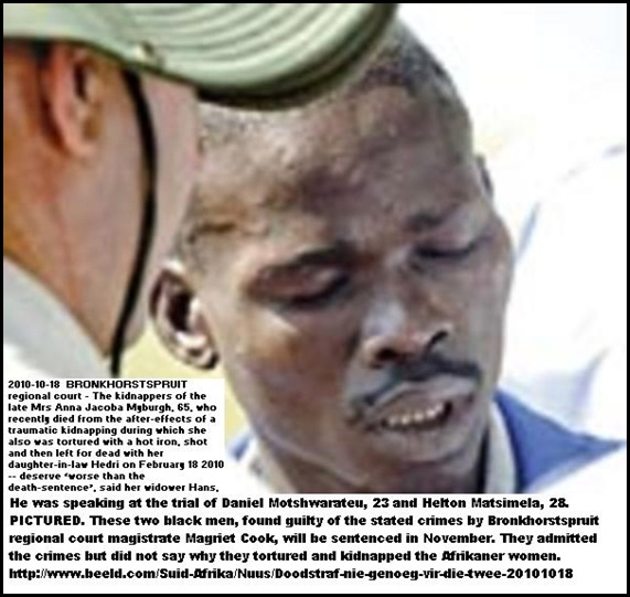 Matsimela 28 guilty of Myburgh double kidnapping Bronkhorstspruit Oct182010