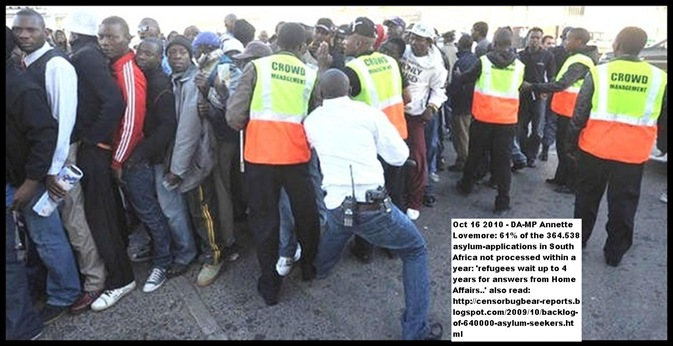 Asylum seekers face many days of chaotic violence waiting to submit applications in sA