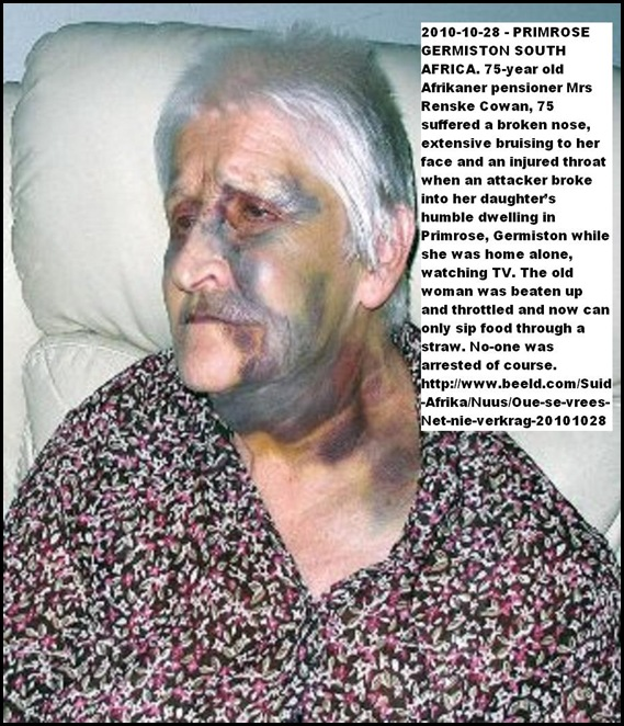 Cowan Renske 75 beaten by attacker Oct212010 Primrose Germiston