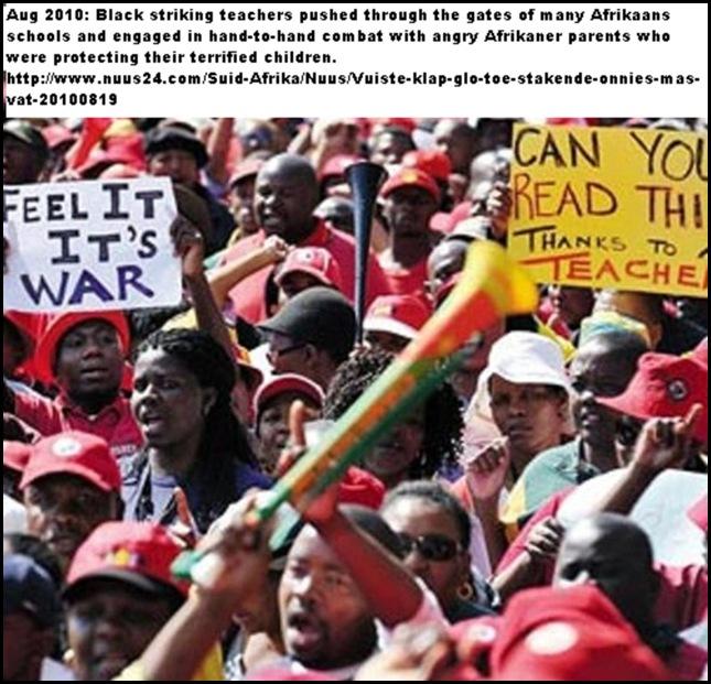 AfrikaansSchoolsThreatenedByBlackDemonstrators
