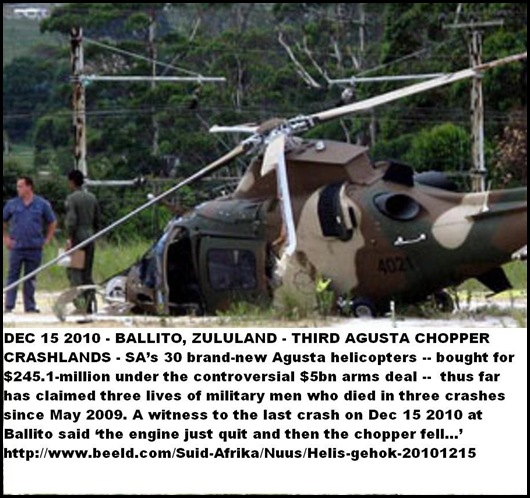 ARMS DEAL AGUSTA CHOPPERS CRASHLANDING IN SA DEC152010