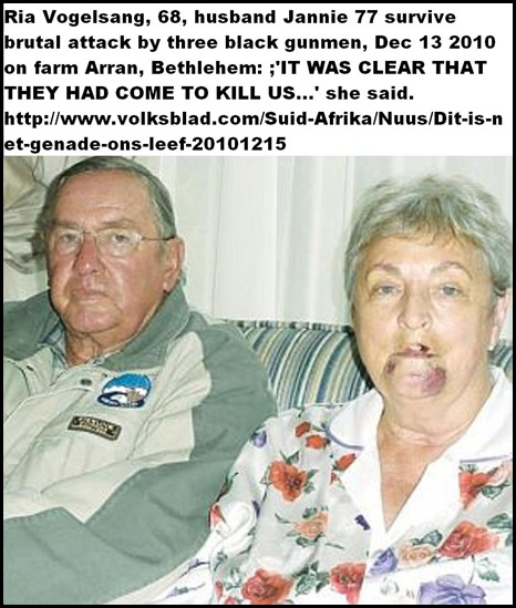 Vogelsang Janny 77 and Ria 68 survive farm attack Dec142010 VOLKSBLAD FREESTATE