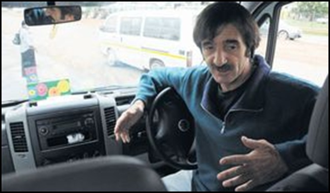 DU PLOOY MARIUS MINIBUS TAXI DRIVER DENIED PLACE AT MAMELODI RANK BECAUSE HE'S WHITE DEC172010 SOWETAN