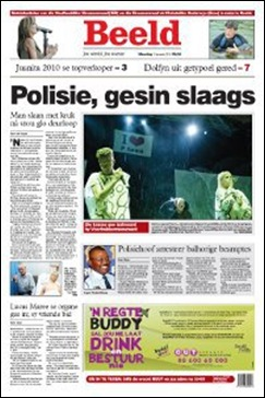 LAYNES family fracas was depicted by BEELD as a 'traffic rage' instead of SAPS brutality
