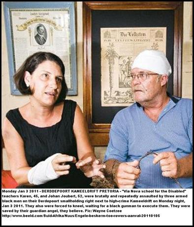 Joubert Johan 52 wife Karen 45 teachers ViaNovaSchoolKameeldriftSurviveAttJaan52011