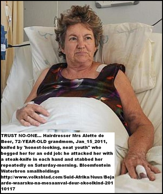 DeBeer_ALETTE 72 STABBED WATERBRON AH BLOEM JAN172011 BY YOUTH SHE GAVE A JOB VOLKSBLAD