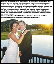 Rostron couple Sheldon_Annelize_CORPSE FLOATED PAST AT VAAL RIVER WEDDING JANFEB291011