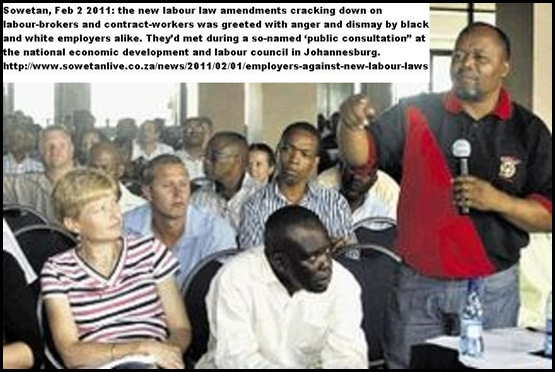 ANC LABOUR LAW ANGRY RESPONSES BY EMPLOYERS FEB12011 PIC SOWETAN
