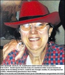 Jacklin Mrs Georgie 65 SleeplessGuestHouseDisappearanceFeb72011