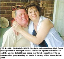 De Jager Doris COURT STENOGRAPHER executed FEB42011 Ridgeway