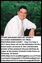 De Jager Hein 28 Dreier store Pta North murder victim 18 March 2008