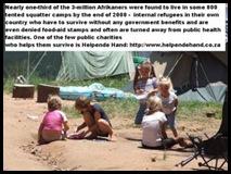 Afrikaner Poor children in camp