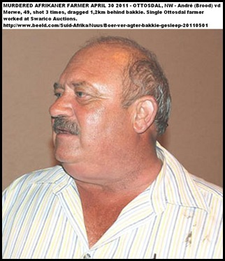 VanderMerwe Andre April302011 murdered Ottosdal DRAGGED BEHIND BAKKIE