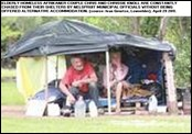 Homeless Afrikaners Chris and Chrissie Knol previous shelter forcibly removed by Nelspruit municipality