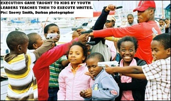 EXECUTION GAME TAUGHT TO SA KIDS IN TOWNSHIPS TO KILL THE WHITES