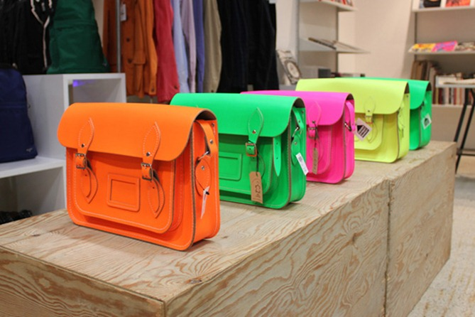 Cambridge-Satchel-Company-for-Dover-Street-Market-Fluo-Collection-1