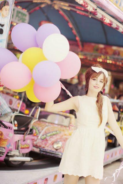 cherry blossom girl balloons