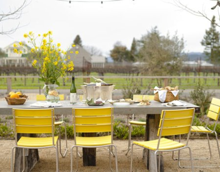 yellow chairs house beautiful