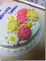 Kay's Birthday Cake Flowers