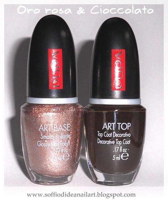 Pupa-Nail-Art-oro-rosa-cioccolato